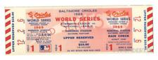 1 1969 WORLD SERIES NEW YORK METS VINTAGE UNUSED FULL TICKET  game 1 laminated