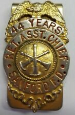 Fire Dept Asst Chief Gold Plated Money Clip Sanford (ME?)