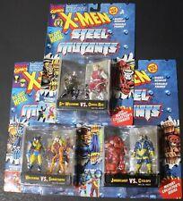 X-men Steel Mutants 6 fig die-cast Wolverinem,Sabertooth,Juggernaut, Cyclops NIC