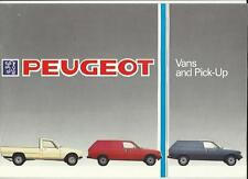 PEUGEOT 305 STANDARD AND  GL  +  504 PICKUP SALES BROCHURE MARCH 1985