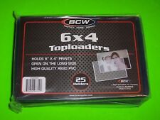 25 6X4 TOPLOADERS, RIGID PVC, FOR PHOTOS, POSTCARDS, AND MORE, ARCHIVAL SAFE