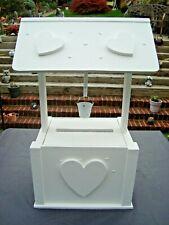 Wooden Wedding wishing well post box 4 sale with bucket free post in uk
