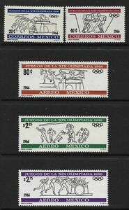 STAMPS-MEXICO. 1966. Olympic Games (2nd Issue) Set. SG: 1121/26. MNH.