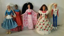 "McDonald's Happy Meal Barbie Dolls 1996 Set of 5 Dutch Kenya Japan Mexico USA 5"""