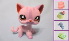 Littlest Pet Shop Shorthair Pink CAT #933 + 1 FREE Access Authentic Has Wear!