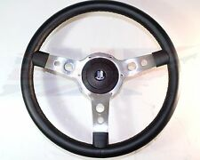 "New 15"" Leather Wrapped Steering Wheel & Hub Adapter Triumph Spitfire 1977-1980"