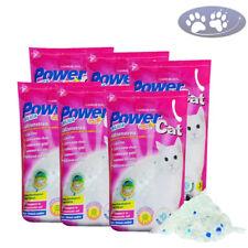 6 x 5 L = 30 L POWER CATS SILIKAT KATZENSTREU CLEAN & MAGIC NEU ENERGY CRYSTELS