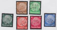 Germany 1934 # 436-441 Hindenburg Memorial Issue - Full set of 6 - Used