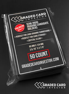 50 Semi Rigid Grading Candidate Holders PSA BGS Submissions Graded Card Investor