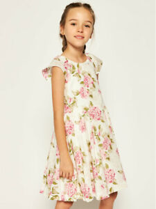 New Girls Mayoral Flowers Dress, Age 8 Years, (6967)