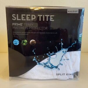 Sleep Tite Prime Terry Hypoallergenic Mattress Protector Waterproof - Split King
