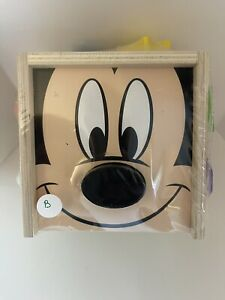 Melissa & Doug Disney Wooden Toy Mickey Mouse Clubhouse 9 Shape /s Sorting Cube