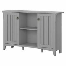 Bush Furniture Accent Storage Cabinet with Doors Cape Cod Gray