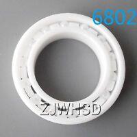 6802 Full Ceramic Zirconia Oxide Bearing ZrO2 15 x 24 x 5mm Self-lubricating