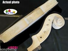 Hand made Unfinished violin 4/4,Carving rib neck great inlay purfling #10591