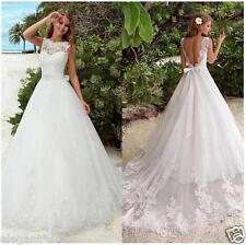 White Ivory Wedding Dress Bridal Gown Custom Size 4 6 8 10 12 14 16 18 20