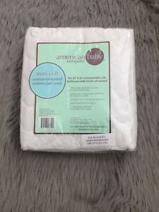 Waterproof Fitted Quilted Cotton Portable Mini Crib Mattress Pad Cover Unisex