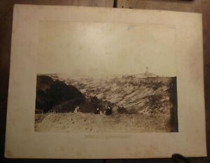 XIX secolo Fotografia originale. Venosa, veduta dai piani di camera. Potenza.