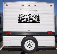 Horse & Cowboy Mountain Landscape Camper RV Vinyl Decal Sticker Graphics16x40