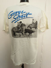 GEORGE STRAIT XL SHIRT CLASSIC TEAM ROPING COUNTRY MUSIC SINGER HONKY TONK WHITE