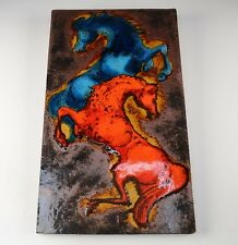 Vintage Ruscha Ceramic Tile with Stallions 772