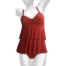 NEW Magicsuit by Miraclesuit 2 PC KATIE TANKINI SWIMSUIT 14 44 $150 RV Rust