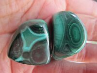 Malachite Healing Crystal Polished business success travel Green Large x 2