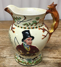 John Peel Crown Devon Musical Jug Pitcher Fox Hunt Horses Huntsman How Dry I Am