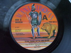 Bob & Marcia - Young Gifted And Black / Private  - Trojan TRM 3001 - EX- U.K 45