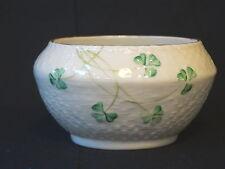 Belleek Fine Porcelain Basket Weave Sugar Bowl ~ 7th Mark