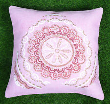 Dari Cushion Cover Handmade Cotton Pink Floral Throw Home Decor Pillow Cover
