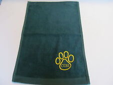 Embroidered 100% Cotton Green Hand Towel Many uses Sports,Golf,Tea,Bowling,  Etc