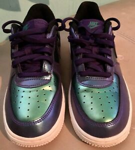 Nike Air Force 1 GS LV8 Neptune Green Low Court Purple Size 1y