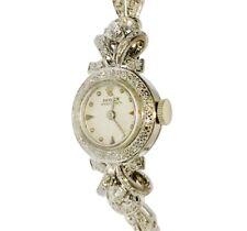 Rare Vintage Rolex Precision Watch 14kt White Gold & Diamond