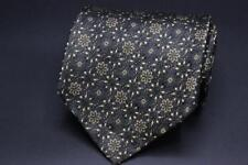 ROBERT TALBOTT Studio Silk Tie. Black with Brown Floral.