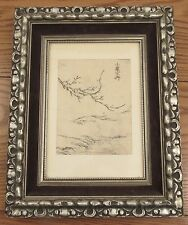 c.1761 Japanese Sumizuri-e print tree/country scene ukiyo-e woodblock Sotar
