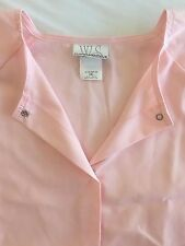 4XL Pastel Pink Scrubs Warm Up Jacket White Swan Fundamental Plus Size Nurse New