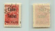 Lithuania Telsiai 1941 SC LT1 used Teisiai instead Telsiai . f3246