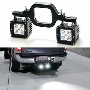 40W CREE LED Pods w/ Backup Reverse Tow Hitch Brackets For Offroad 4x4 Truck SUV