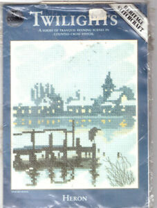 REDUCED!! Heron Heritage Twilights Counted Cross Stitch Kit Evenweave