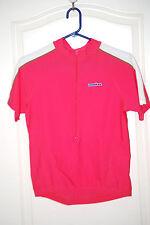 Cycling Jersey IRONMAN hot pink 80/20 Lycra short sleeve tee Men S Women L NEW