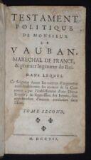 Testament politique de Monsieur de Vauban, maréchal de France & premier