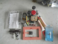 Lot of Vintage HO Other Layout Parts Pieces Signs Some Accessories LOOK