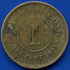 1895 Straits Settlements 1 Cent Coin