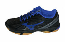 Mizuno Women's Wave Hurricane 3 Indoor Volleyball Athletic Shoes Black Blue 6