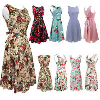 USA Women Vintage 50s 60s Retro Rockabilly Pinup Housewife Party Swing Dress