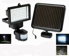 8011 Super Bright Black Motion Sensor Security Garage Door Solar Flood Light