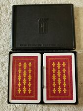 NICE!! Vintage Kem Playing Cards, 2 Decks in Plastic Case Complete Maple Cards