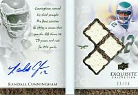 2009 Exquisite Randall Cunningham Auto-Biography Autograph Jersey /75 EAGLES 💎