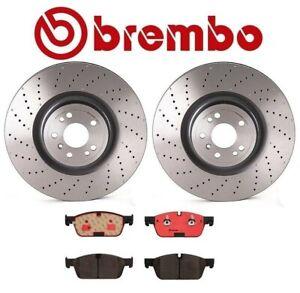 For MB GL350 450 GLE450 AMG Front Disc Brake Rotors and Ceramic Pads Kit Brembo
